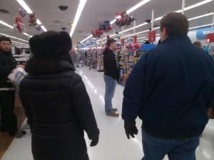 Julie Nesbitt and Will Nesbitt in Wal-Mart