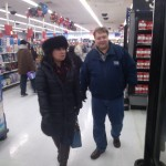 Will Nesbitt and Julie Nesbitt going through Wal-Mart