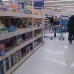 an aisle at Wal-Mart