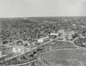 Aerial View of White House From Washington Monument in 1911