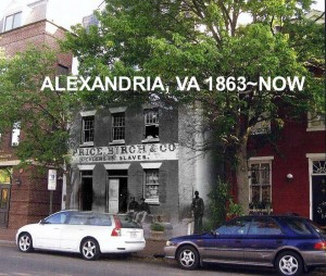 Alexandria Virginia during the war and now