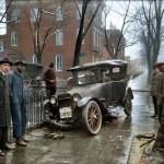 Auto Wreck in Washington D.C, 1921.'''. Colorized