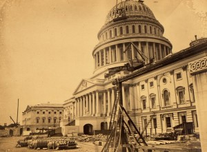 Rare, Stunning 1863 Photo of Capitol Building