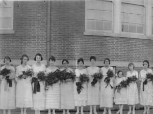 The 1919 Girls Graduating Class of Alexandria High School