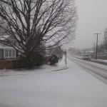 Bucknell Manor in winter snow