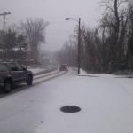 Belle View Boulevard in winter snow