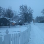Bucknell Manor blizzard in January on Cavalier Drive