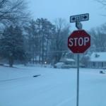 Belle Haven in winter snow