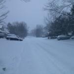 Bucknell Manor in a blizzard