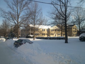 Belle View condos during winter