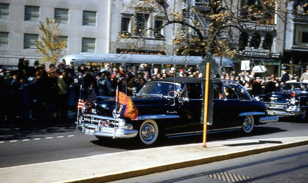 President Eisenhower and Queen Elizabeth Driving Down Pennsylvania Avenue in 1957