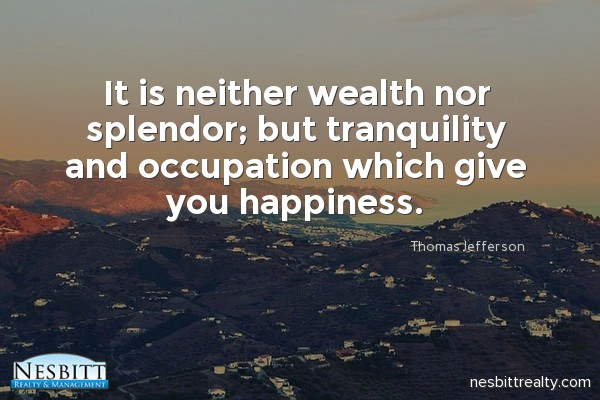 Nesbitt Realty inspirational quote