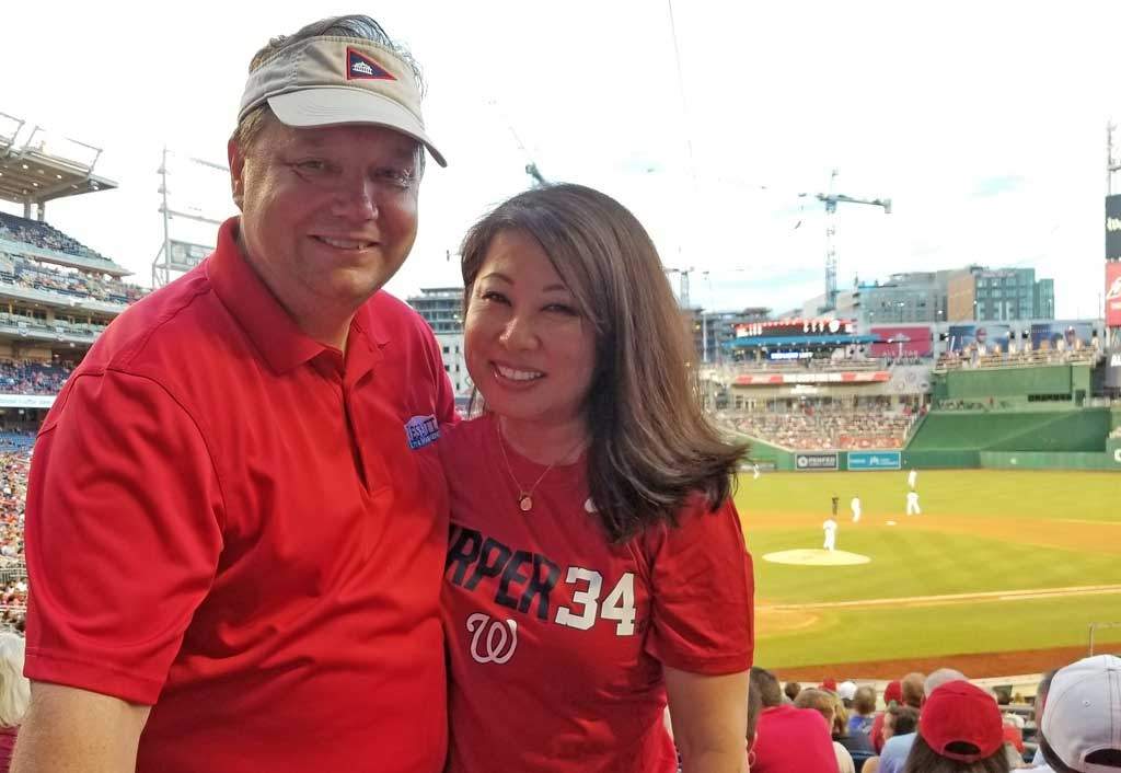 Will and Julie at a Nationals Game